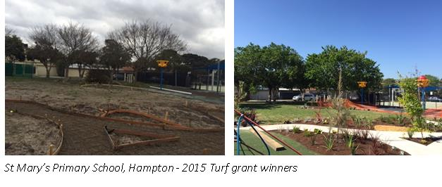 St Mary's Turf Grant result